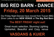 "Big Red Barn - Dance / The BEST FRIDAY night out!   Great music selection, Stunning Lighting!  Upmarket, Beautiful and Cozy venue  The PERFECT friends DANS-KUIER!  - Cash entrance: R80.00pp  - Good food & drinks available at BAR (Only card facility available at bar, No cash) - 19h00 - 23h30  Sms ""Dance B"" to 37997  Cnr Glen & Nelson Road, Midstream  GPS Co-Ordinates:  S 25 55 639′ E 028 13. 673  Lezelle Pretorius Modern Jive Dance Club www.mjdc.mobi / www.mjdc.co.za 082 929 4130 / Lezelle@mjdc.co.za"