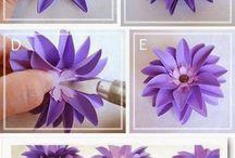 Çiçek ve kelebek yapımı