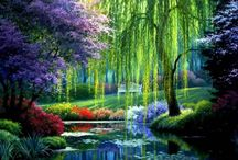 paintings of gardens / by Annetta Gregory Art