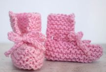 Knitted baby garments