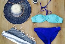 """Holiday stuff / Zin in vakantie met mijn nieuwe bikini, hoed en stranddoek, alles van """"Bomont"""" (dat potje scrubzout van """"Zuss"""" ook)."""