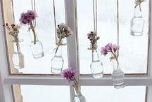 Schaufenster Deko Flower Power