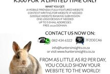 Website Design / Here's your Easter Egg!   For a limited time only, Hunter's Insights is offering you a fully featured, mobile friendly #website for only R300. Ts & Cs apply.