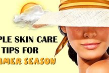 Simple Skin Care Tips For Summer Season / The hot summer season come once again and mostly peoples start to protect their skin from sun rays and applying sun screen lotion for care them but what you know there are many natural ways are available by which you can protect your skin in easy way, so if you want to know about that please visit this link.