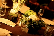 Real Weddings: Quiet Elegance. Photos by Chery Mac / This was a sunset wedding in Palm Springs in early Fall using greens, ivories and chocolate brown. The style was elegant, and understated, letting the beauty of the bride and groom shine.