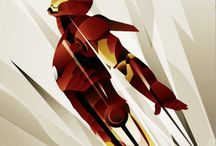 Superheroes Posters meet Art Deco by Rodolfo Reyes / Pastels and composition, what a brilliant idea!