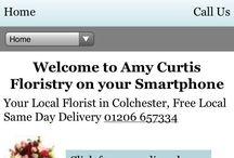 Smartphone Florists / Smartphone enabled Florist Window ecommerce client screenshots.