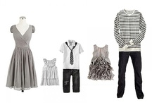 family wardrobe inspiration / Family wardrobe outfit ideas for photo session.