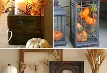 Thanksgiving Inspiration / Decorating your home for Thanksgiving? Here are some ideas for centerpieces, mantel displays, Thanksgiving craft projects, wreaths and more that we like.