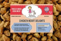 Gracie's all natural Doggie Delight Treats / Gracie's treats are made from one ingredient, freeze dried USDA inspected meat