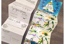 Into The Fold / Folded invite design inspiration