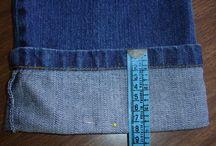 Bainha de calça jeans e outros