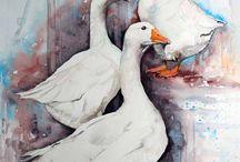 painting ducks