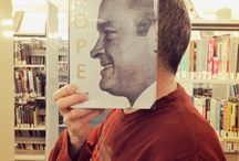 Bookface / Bookface involves strategically lining up your face or another body part alongside a book cover that features a matching body part so that there appears a melding of life and art.