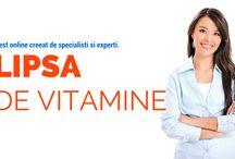 """Test """"Lipsa de Vitamine"""" / Lipsa de Vitamine: test online gratuit. Analizeaza circa 300 de simptome caracteristice pentru aproximativ 50 de vitamine si minerale. --> http://naturapentrusanatate.com/go/lipsa-de-vitamine/"""