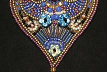 Bead embroidery: oriental patterns