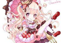Manga fille chibi kawaii