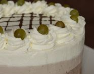 Borkrémes torta