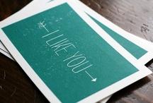 postcards / invitation DIY / by Hilde Bluys