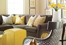 Yellow interior colour schemes / Yellow is the happiest colour in the spectrum! It is a bright and cheerful colour that makes a great accent.  Yellow looks fantastic when partnered with grey.  Read my blog Making your HOME beautiful for more inspiration and decorating tips.