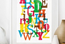 Alphabet Love / I would love to have an entire wall in my office covered in different styles of the alphabet.  Eye candy. :)