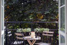 Balkon, terasa, záhrada