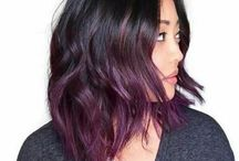 balayage purple hair