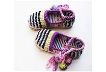 zapatos tejidos crochet