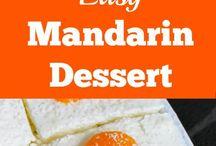 orange desserts
