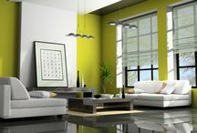 Raum grün weiß