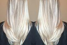 Lang hår Balayage