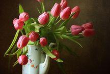 вазы, натюрморты, композиции