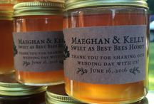 Weddings / Weddings are sweet as can be with gifts of our custom honey jars for all the guests to keep. May the marriage and love be everlasting, just like honey, the only food that never spoils. To order custom jars of our American honey, visit bestbees.com/shop, email info@bestbees.com, or call (617) 445-2322.