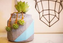 CMT harmony-handmade crafts / concrete jewelrys- concrete flower pots