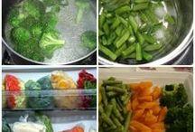 congelamento de legumes