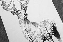 nakreslená zvířata