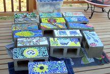 Mozaika na zahrádce
