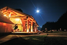 Night Time in the Wilderness / When day turns to night, the candles are lit and the teekee torches line the boardwalks all along Clayoquot Wilderness Resort. www.wildretreat.com