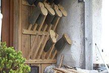 Cottage boot rack