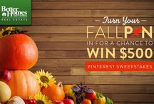 BHGRE® Fall Pin Love / Fall in love with your home again this season! Create your fall decor and entertaining inspiration board and enter the #BHGRE #FallPinLoveSweeps for your chance to win $500. / by Kathie Hoehn