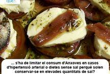 Anxoves / Anchoas / Aquí trobaràs curiositats sobre les anxoves / Aquí encontrarás curiosidades sobre las anchoas