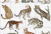 Cross stitch - wild cats (other)