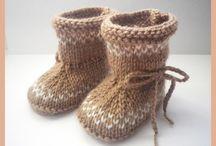 Dětské bačkůrky pletené, háčkované