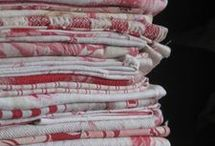 F QUILTS FABRIC WARM * / PInk, Coral, Peach, Rose, Red