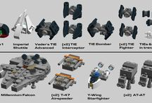 Microscale Lego Star Wars Ships and vehicles