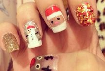 Christmas nail art ideas / Christmassy nails and nail art to get you feeling festive / by Handbag.com