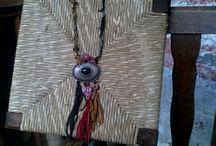 Leather Νecklace-Δερμάτινο κολιέ / Art things