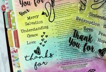 Color by Faith - Give Thanks  Bible Journaling / Projects and Bible Journal entries created using Joy Clair's Color by Faith Series set Give Thanks