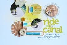 "The Good Life Kit - Scrapbook Circle  / Design Team layouts using the September 2011 kit, ""The Good Life"""