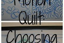 Fabric + quilting + sewing
